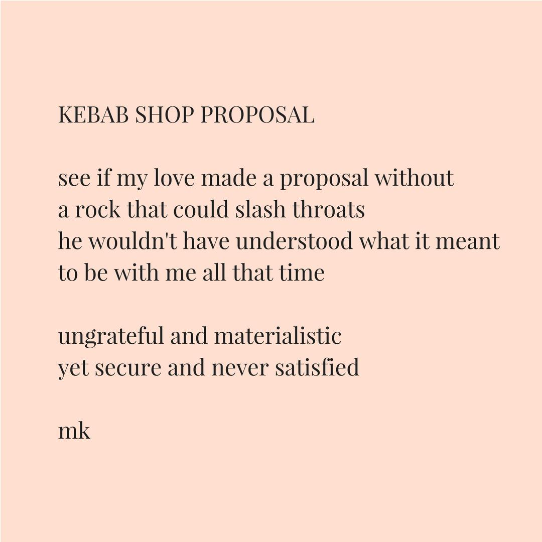 KEBAB SHOP PROPOSAL